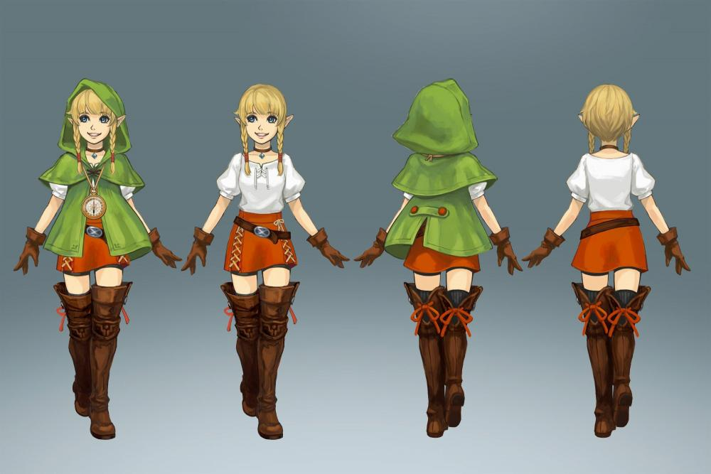 Linkle concept art   Linkle   Hyrule warriors, Zelda cosplay, Zelda hyrule  warriors