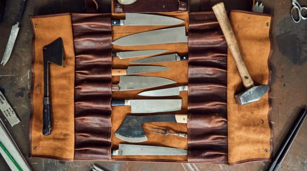 Leather Knife Roll Designed by a Chef