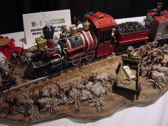 Train Robbery scene by Roz Kaohn