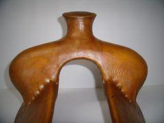 """Modified Association 13 1/2"""" wood post Rod Nikkel Saddle Trees 0809112"""