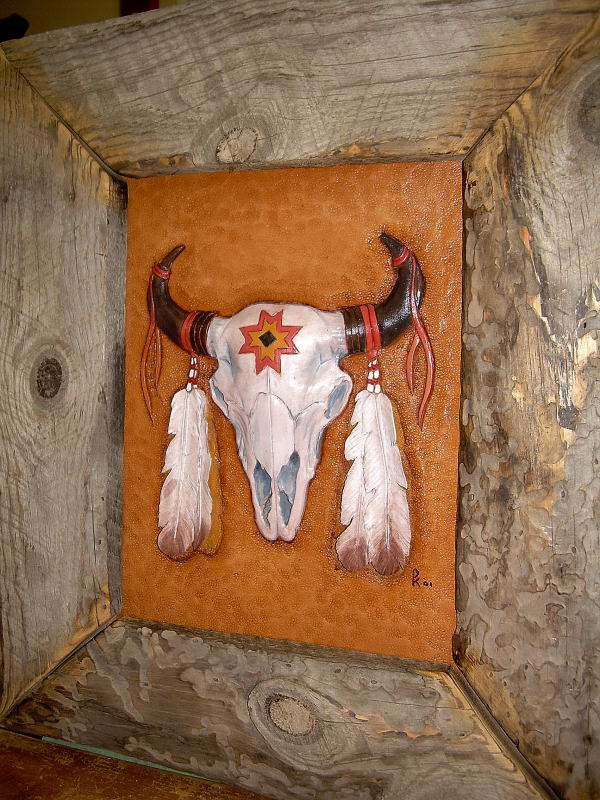 Embossed Buffalo Skull