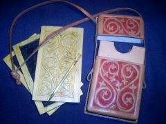 Historical re-creation: Wax Tablets, Brass Stylus and Leather Case