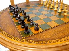 Leather Chess Table