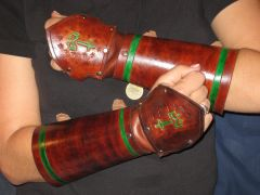 Custom Bracers with hand-guard