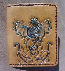 Celtic Dragon Wallet front