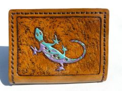 Southwestern Spinning Lizard Wallet-front