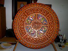 Plug Embossed Targe (Scottish round shield)