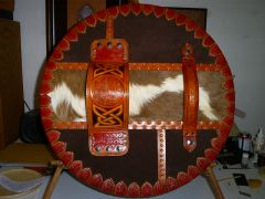 Back view of the Targe (Scottish round shield)