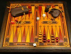 Ornamental tabletop Backgammon board, ver. 2