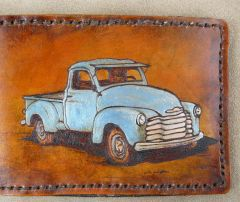 1950 style Chevy truck wallet