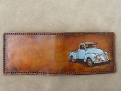 The full 1950 style Chevy truck wallet