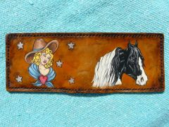 Vintage style cowgirl and Paint horse wallet