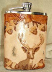 Buck in the Oaks Flask