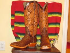 Floral stamped boot tops