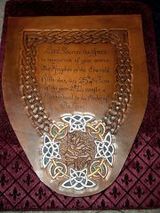"""""""Master Rose"""" award certificate on leather"""