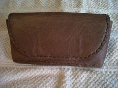 Phone case made with soft leather