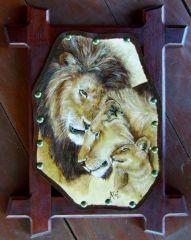 Framed Lions