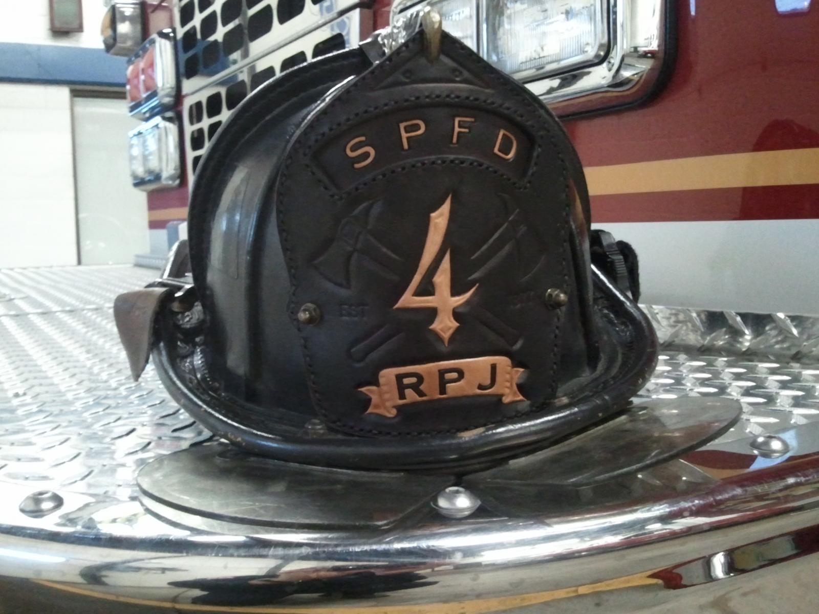 fire helmet shield