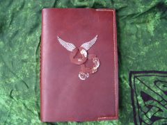 Steampunk style journal cover