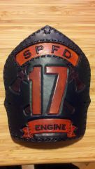 Fire helmet shield