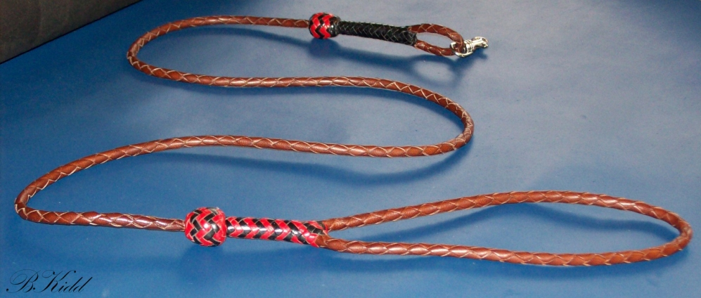 4 Strands  Leather Braiding by John