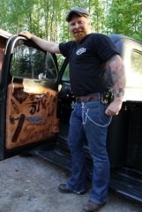 Veika and his new 1951 Ford Custom Door Panel 1