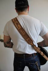 Viking Runes Guitar Strap
