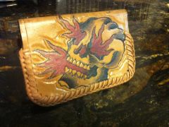 Tattooed Leather Wallet