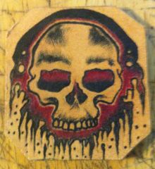 Tattooed Leather Patch