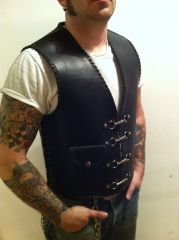 Custom Leather Biker Vest