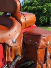 Indian Motorcycle Leather Restoration and re-color