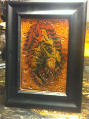 Tattooed and Tooled Leather Tiger flash
