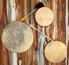 Rawhide Drums and Drumsticks