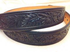 Black floral belt