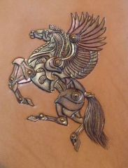 Pegasus painted