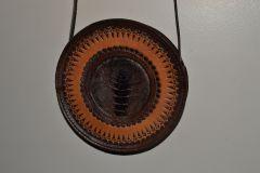 round bag with emu inlay