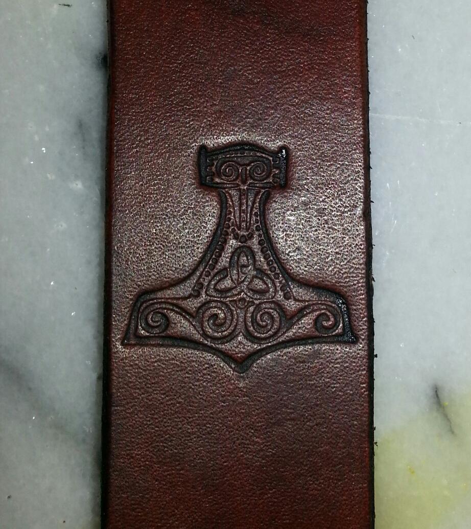 Strap detail of viking seax