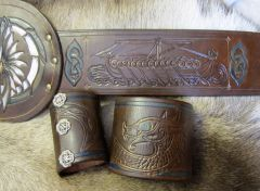 "Viking ""Champion"" War Belt and cuff set"