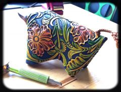 And one with some color. Love this pattern by Jim Linnell!  Very challenging and fun.
