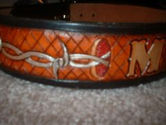 Tooled Barbed Wire Collar