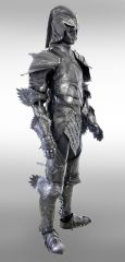 elven knight leather fantasy armor By azmal d5r02s3