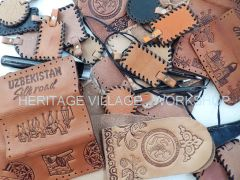 Handmade leathercraft.