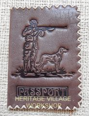 Leather  cover for hunters passport .
