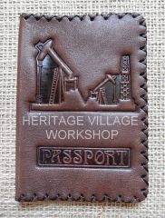 Leather cover for  oil workers   passport .