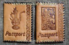 Handmade passport cover .