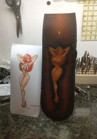 Harley Softail rear fender bib with pin-up tooling