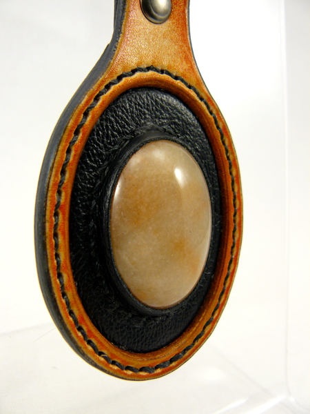 Key Fob with cabochon stone mount