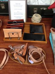 Selling my leather work at markets