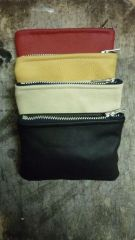 Coin purses made from scrap upholstry leather