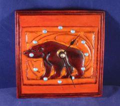 Bear  Leather Clock